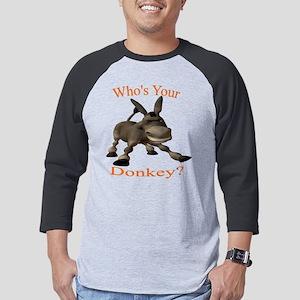 Donkey -  black shirt Mens Baseball Tee