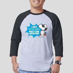 Snoopy - Teacher Mens Baseball Tee