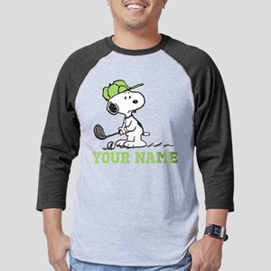 Snoopy Golf Personalized Mens Baseball Tee