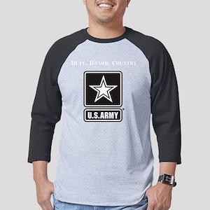 Duty Honor Country Army Mens Baseball Tee