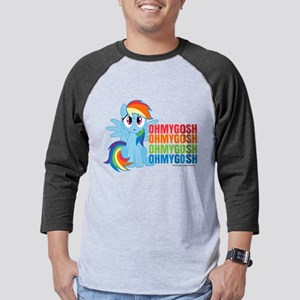 MLP Rainbow Dash OMG Mens Baseball Tee