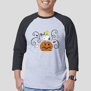 Peanuts Snooky Sketch Pumpkin Da Mens Baseball Tee