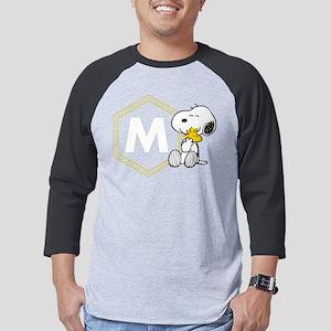 Snoopy Woodstock Monogrammed Mens Baseball Tee