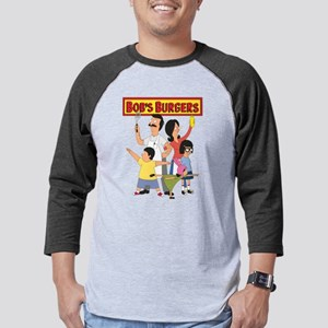 Bob's Burger Hero Family Dark Mens Baseball Tee