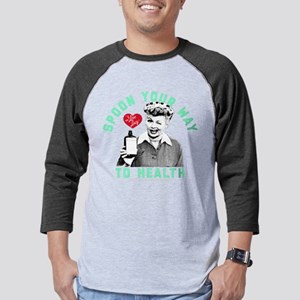 I Love Lucy Spoon Your Way to he Mens Baseball Tee