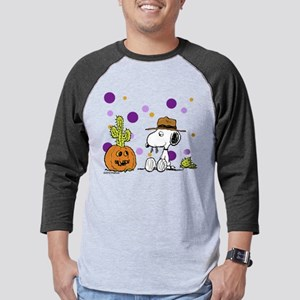 Spike pumpkin cactus2 Mens Baseball Tee