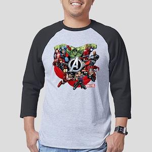 AvengersGroup dark Mens Baseball Tee