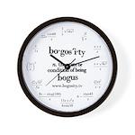 Bogosity Math Wall Clock