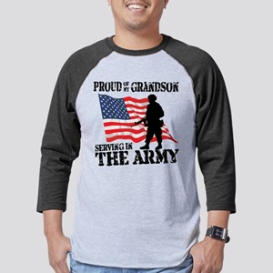 Army_Grandson Mens Baseball Tee