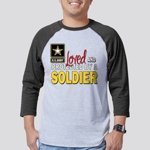 Loved Protected Soldier Mens Baseball Tee