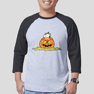 Day of the Dead Snoopy Pumpkin D Mens Baseball Tee