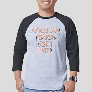 American Horror Story Hotel Neon Mens Baseball Tee