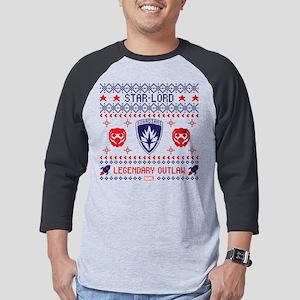 GOTG Star-Lord Ugly Sweater Dark Mens Baseball Tee