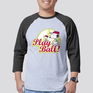Snoopy - Play Ball Mens Baseball Tee