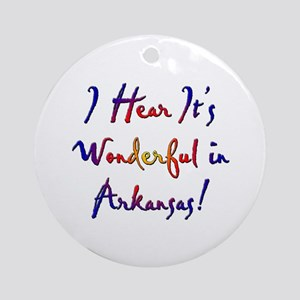 Arkansas Pride! Ornament (Round)