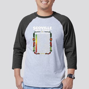 Scoville Heat Scale Mens Baseball Tee