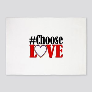 Choose Love Heart 5'x7'Area Rug