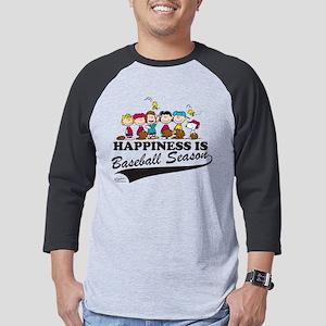 Peanuts - Happiness is Baseball  Mens Baseball Tee
