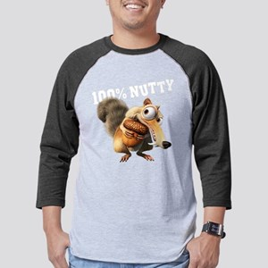 Ice Age Scrat 100% Nutty Light Mens Baseball Tee