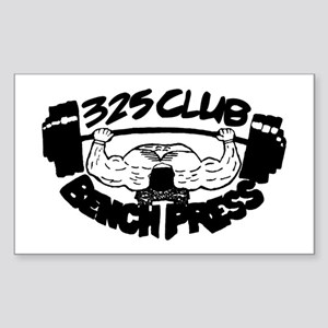 325 Club Bench Press Rectangle Sticker
