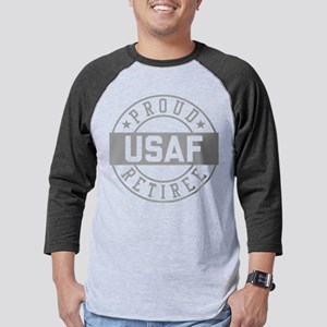 Proud USAF Retiree Mens Baseball Tee