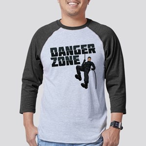 Archer Danger Zone Dark Mens Baseball Tee