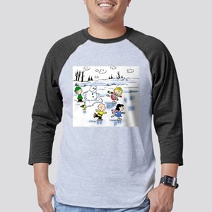 peanut gang snow scene Mens Baseball Tee