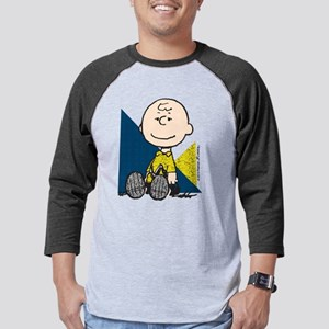 Charlie Brown Sitting Mens Baseball Tee