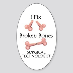 Broken Bones ST Oval Sticker (10 pk)