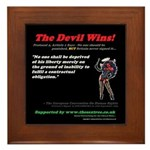 Pro 4, Article 1 The Devil Wins! Framed Tile