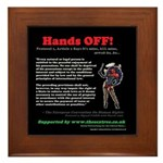 Protocol 1, Article 1 Hands OFF! Framed Tile