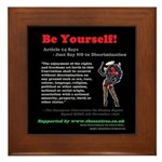 Article 14 Be Yourself Framed Tile
