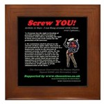 Article 11 Screw YOU Framed Tile
