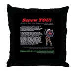 Article 11 Screw YOU! Throw Pillow