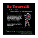 Article 14 - Be Yourself Tile Coaster