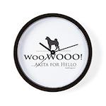 oddFrogg Akita Hello Wall Clock