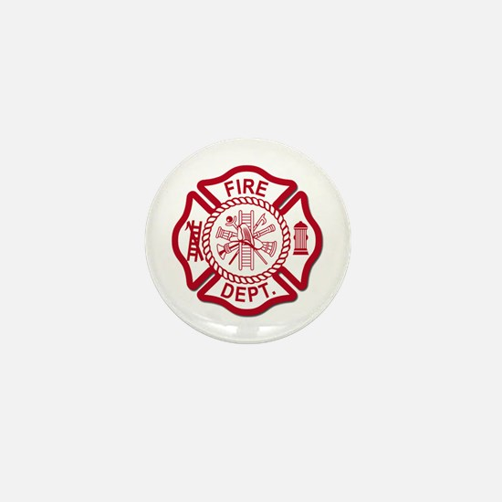 Firefighter Baby Mini Button