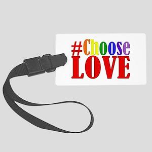 Choose Love Rainbow Luggage Tag