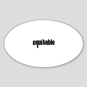 Equitable Oval Sticker