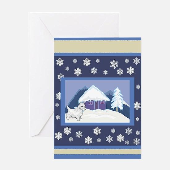 Snowflake Westie Holiday Greeting Card