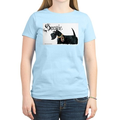 Scottish Terrier Gothic Women's Light T-Shirt