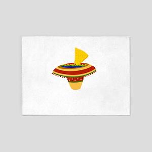 Pico de gayo lgbt mexican sombrero 5'x7'Area Rug