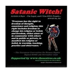 Article 9 Satanic Witch - Tile Coaster