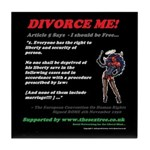 Article 5 Divorce Me Tile Coaster
