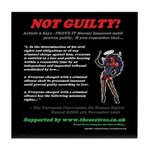 Article 6 Not guilty Tile Coaster