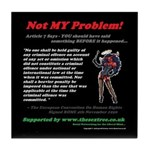 Article 7 Not MY Problem! Tile Coaster
