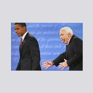 Crazy Old John McCain Rectangle Magnet