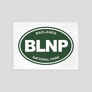 BLNP (Badlands National Park) 5'x7'Area Rug