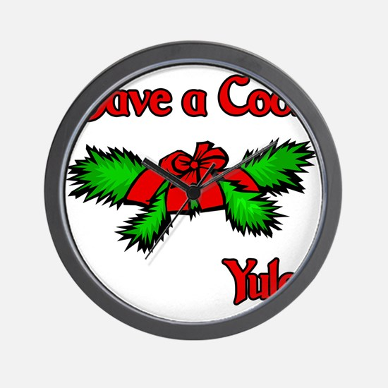 Have a cool Yule Wall Clock