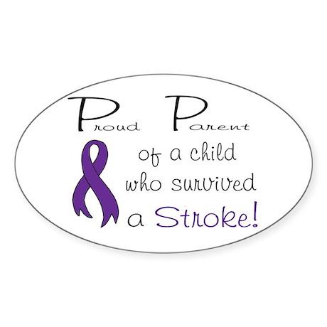 Proud Parent Oval Sticker